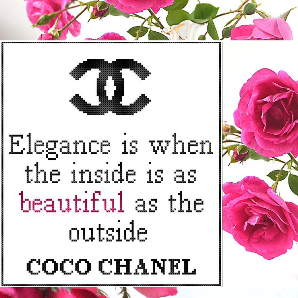 Free COCO CHANEL Cross Stitch Pattern!