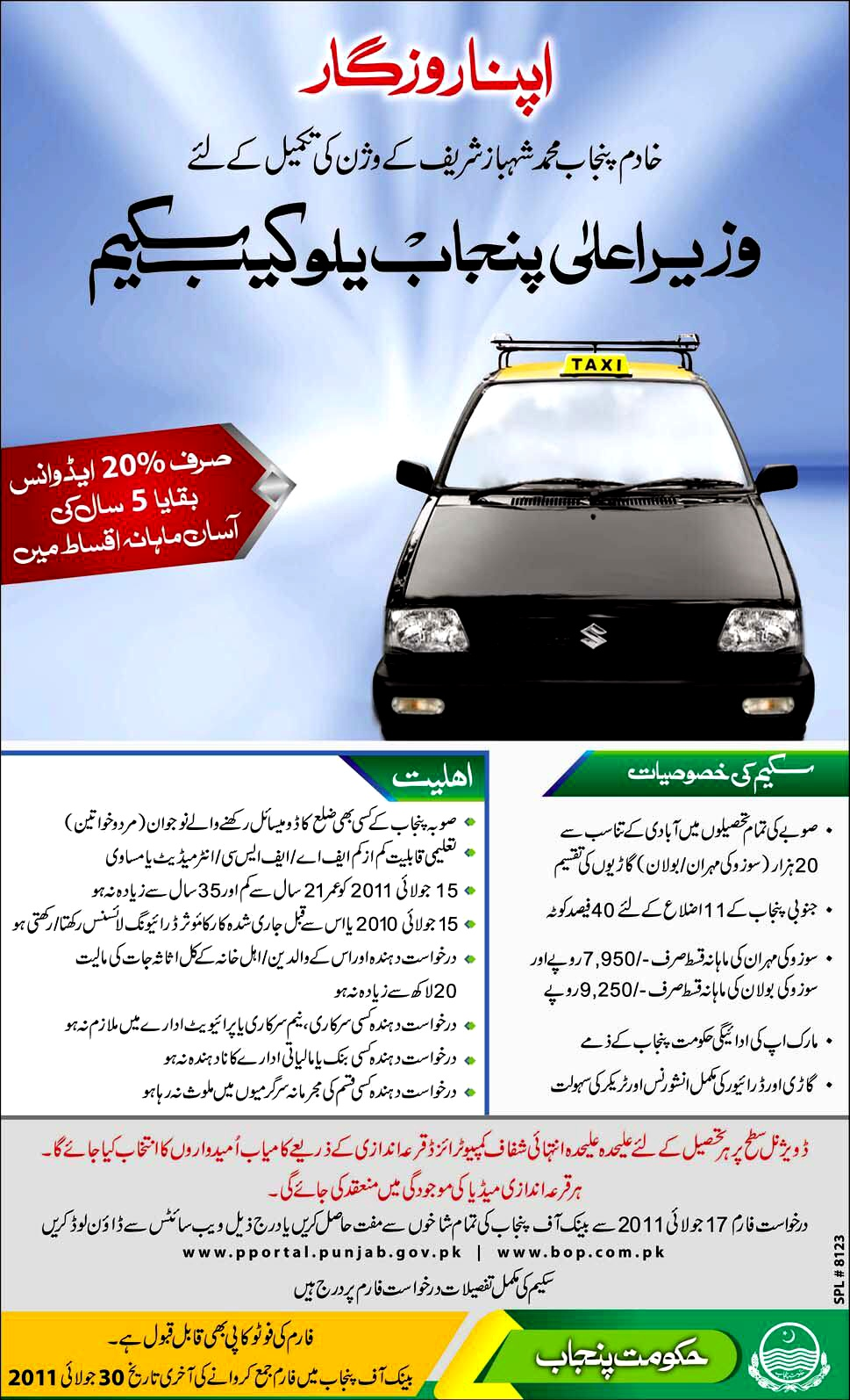 SCHEME for Detail Visit www.pportal.punjab.gov.pk and www.bop.com.pk