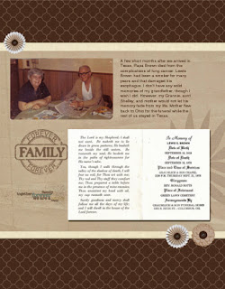 Scrapbooking a funeral