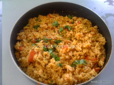 Rice with tomatos and spices