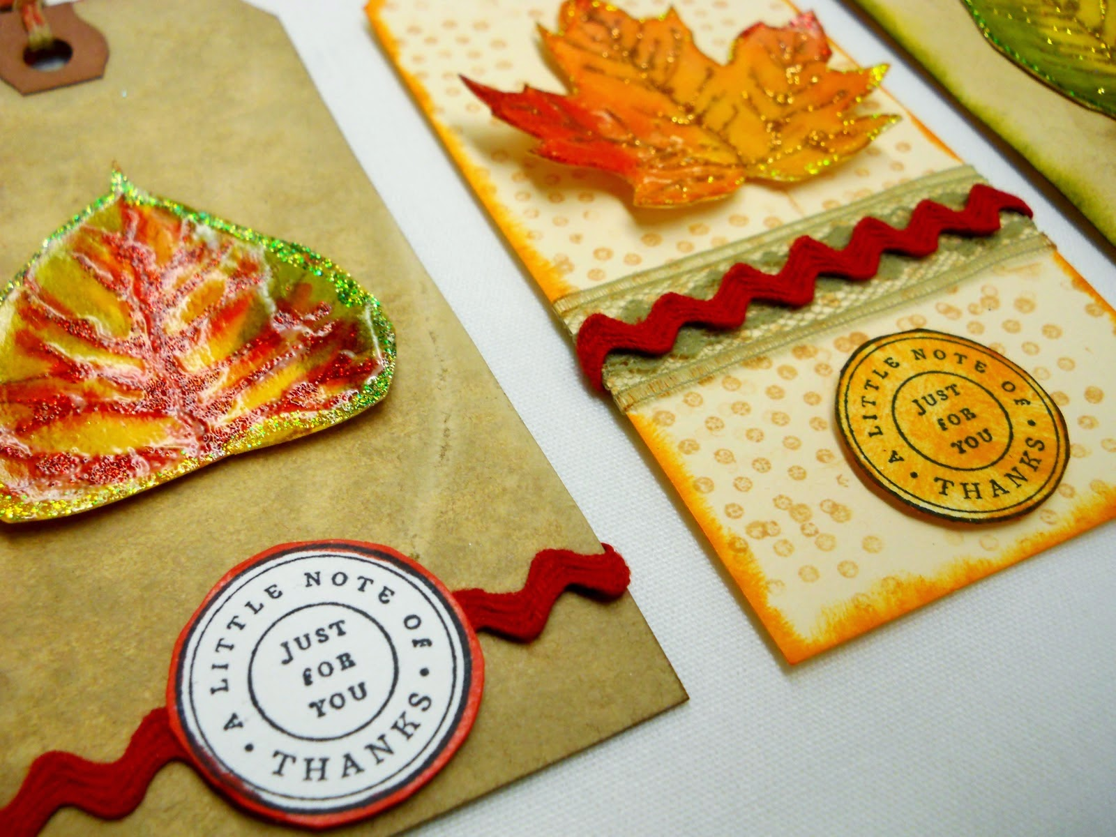Fall Leaves Tags