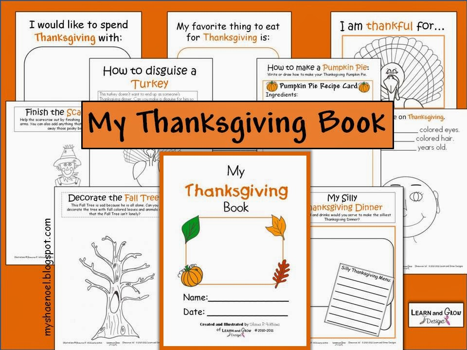 Thanksgiving Cookbook Cover : Learn and grow designs website november