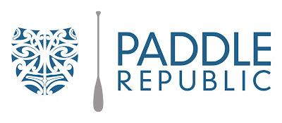 logo tiki maori mask surfing paddle republic high resolution