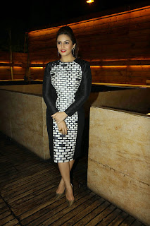Bollywood Actress Huma Qureshi Picture Gallery in Short Dress at The Cineblitz Magazine Cover Launch  10