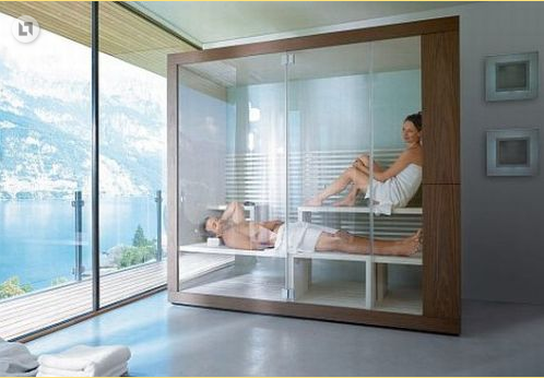 Unique home construction 7 stunning steam baths you can for Build steam shower