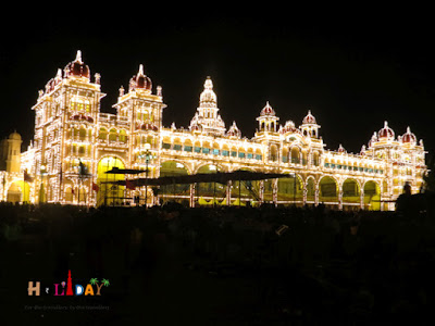 Mysore palace illumination timings