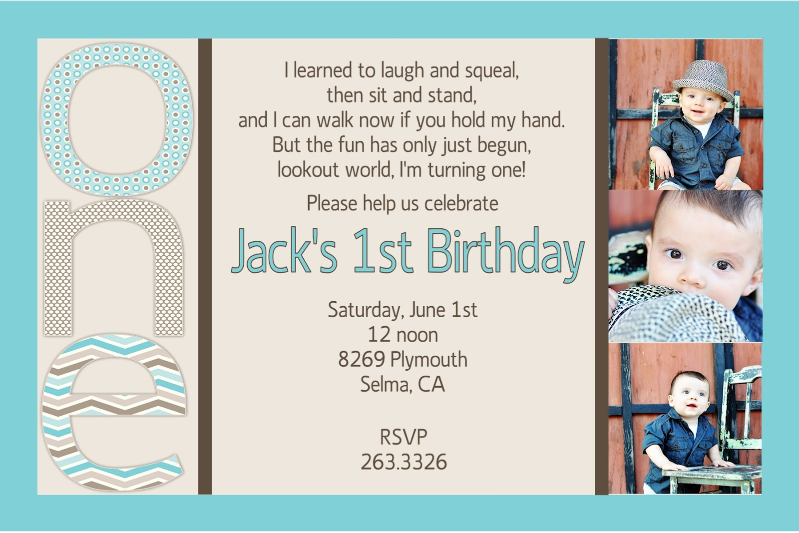 Boys first birthday party invitation wording quotes filmwisefo