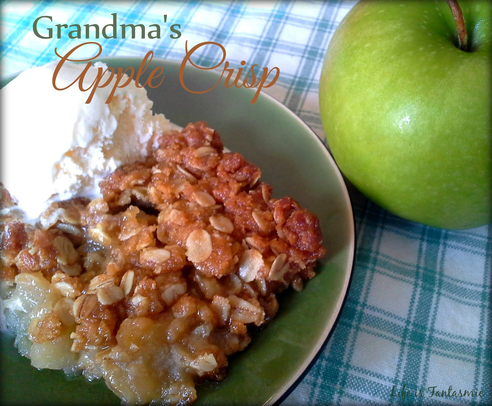 Grandma's Easy Apple Crisp Recipe - RecipeTips.com