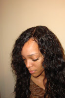 Side Part Sew Ins with Curly Hair