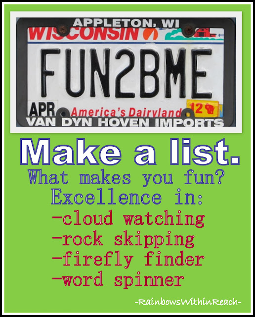 photo of: FUN2BEME license plate prompts for creativity