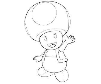 #5 Toad Coloring Page