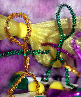 mini Mardi Gras float riders