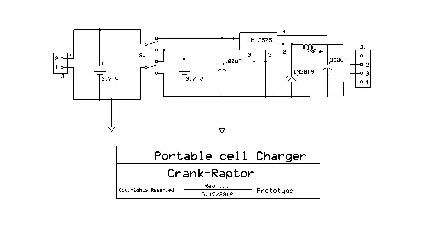 Electronics Circuits Portable Cell Charger Circuit Parallel With Switch A There It Uses Two Li Ion Battery The Input Is From Phone Pin Used To Toggle Between Series And Connection Of Batteries