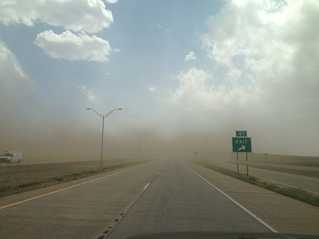 Postcards And Road Trips Lubbock Texas Dust Storm