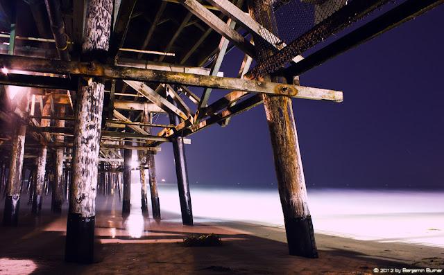 Under Santa Monica Pier at Night