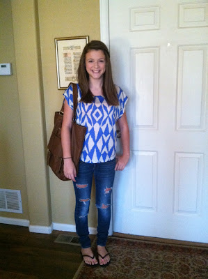 Sarah--first day of 9th grade