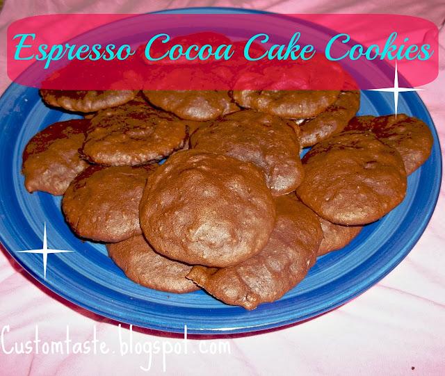 Espresso Cocoa Cake Cookies by Custom Taste