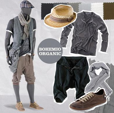 estilo bohemio en hombres fashion leaves