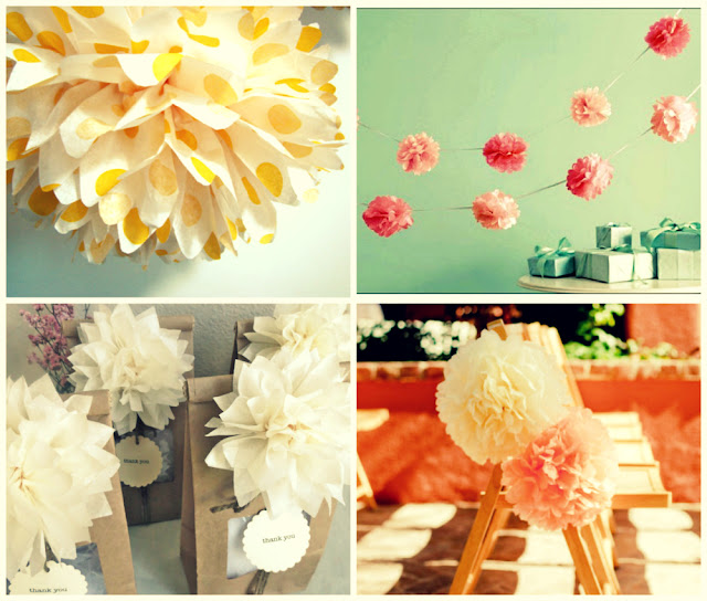 wedding decor pompoms