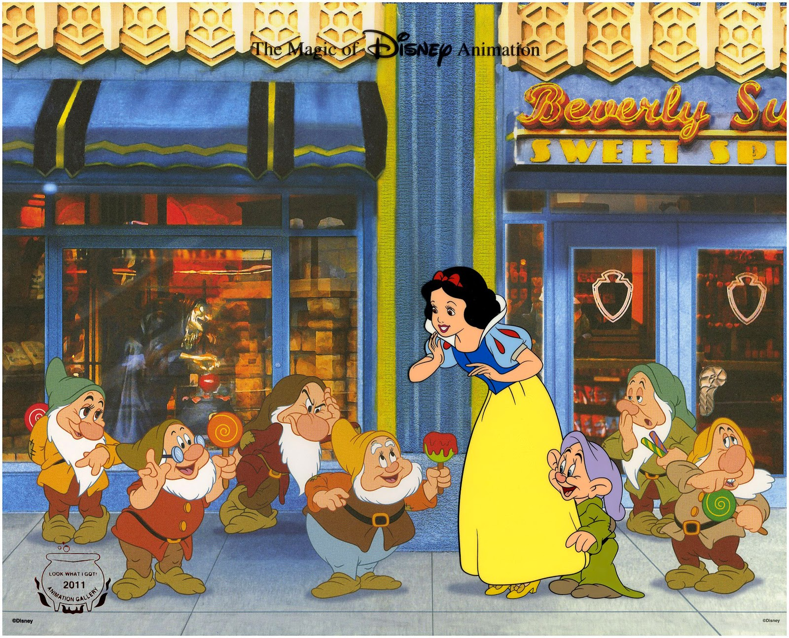 Filmic light snow white archive look what i got cel art hand embossed with the 2011 design seal image size 105 x 13 retail 15000 includes a certificate of authenticity stock images copyright disney 1betcityfo Choice Image
