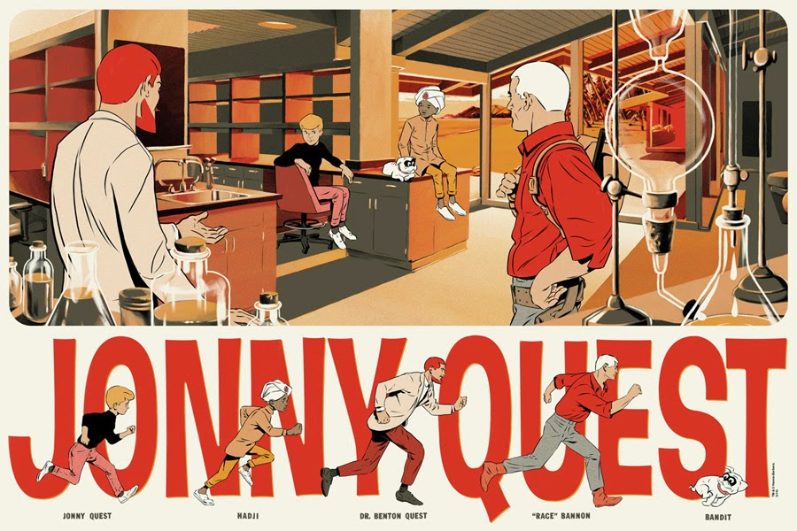 "Mondo x Hanna-Barbera Screen Print Series - ""Jonny Quest"" by Matthew Woodson"