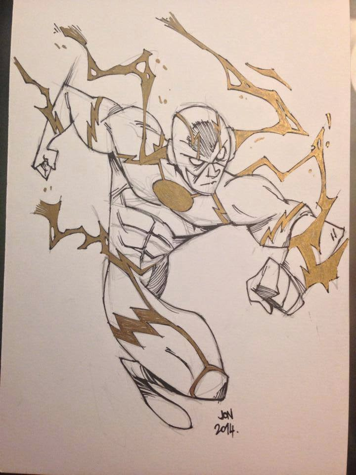 jonathan jon lankry 2D artist animation comic book animated the flash dc comics lightning original