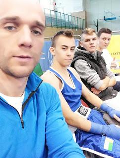 Bogumił Połoński, Piotr Boniakowski, Damian Ogrodniczak, Karol Matysiak, Trening, boks, Zielona Góra, sport, młodzież, bokserzy, ring, walka