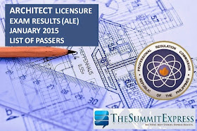 Architect board exam (ALE) results January 2015