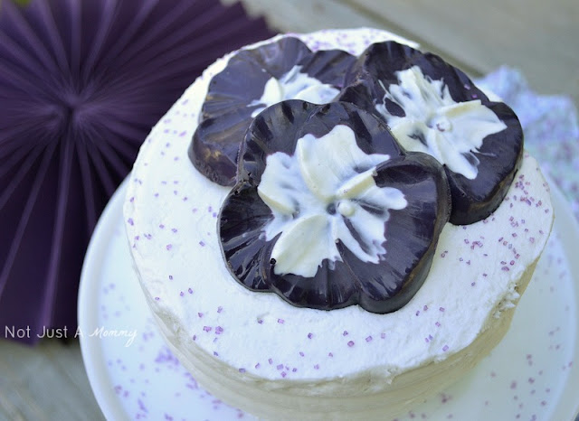 1 cake 3 ways spring cake pansy candy toppers