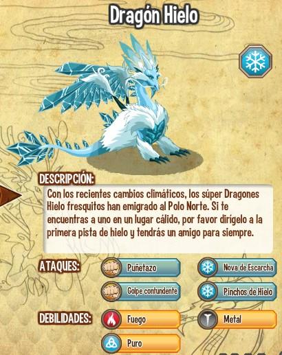 todas las estadisticas del dragon hielo