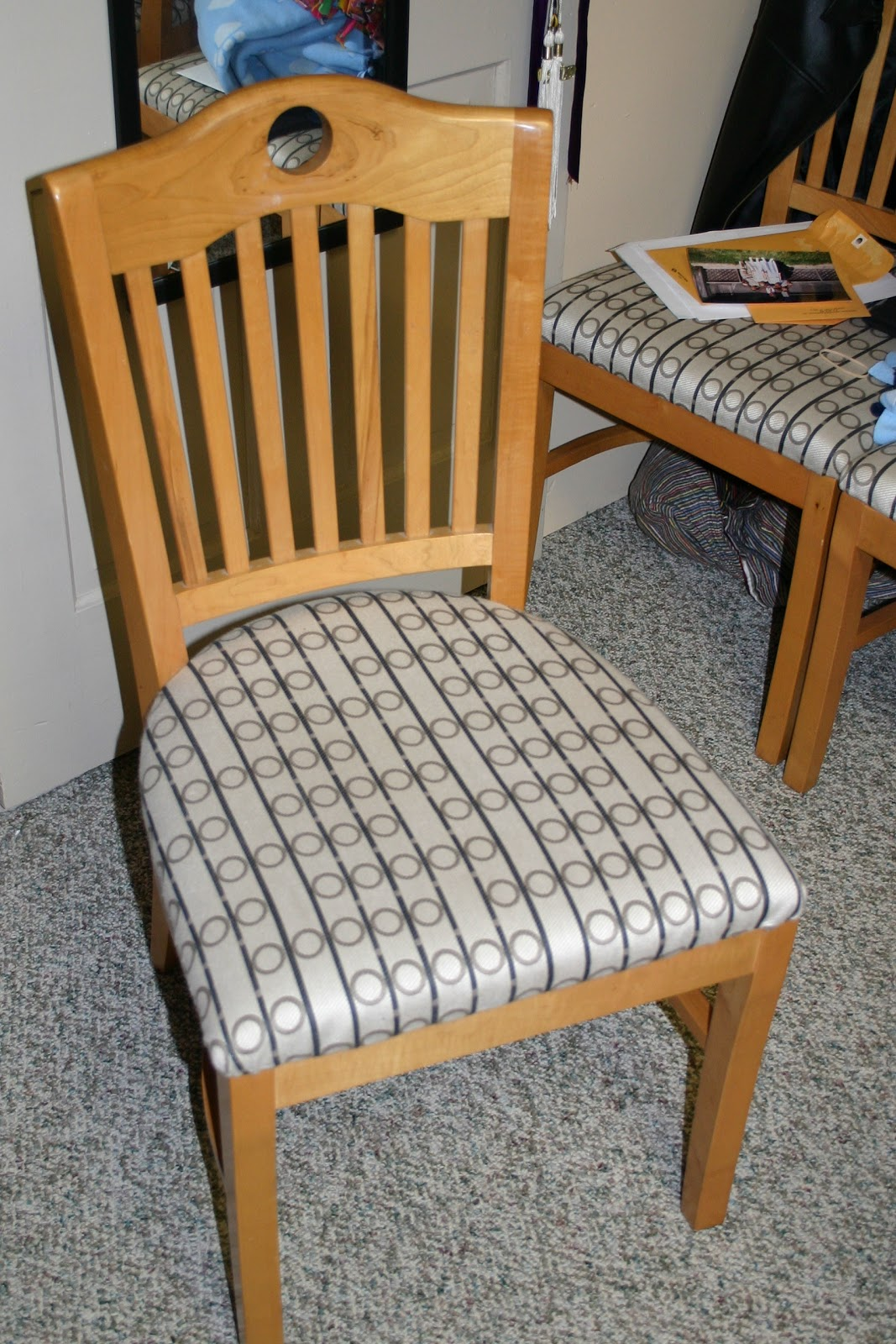 Reupholstered Dining Chairs + Cording