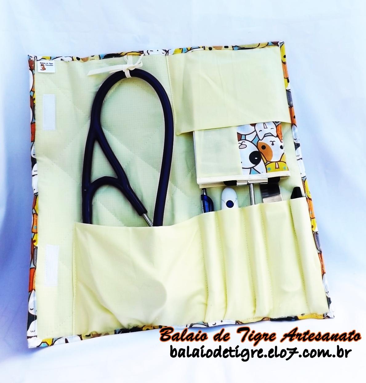 porta estetoscopio da Balaio de Tigre modelo exclusivo veterinária