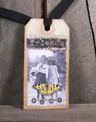 Friends Altered Art Tag