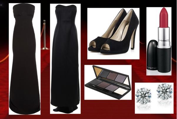 Costume Ideas With Black Dress Long Black Strapless Dress