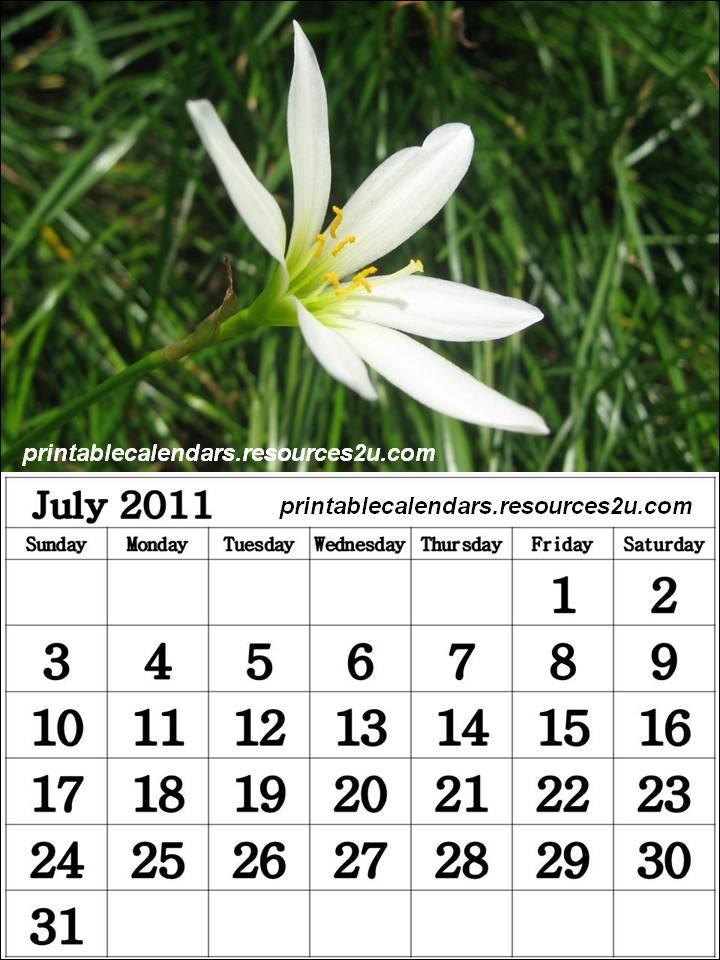 2011 Calendar July. Free July 2011 Calendar
