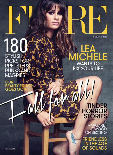 Actress, Singer @ Lea Michele - Nino Munoz for Flare October 2015