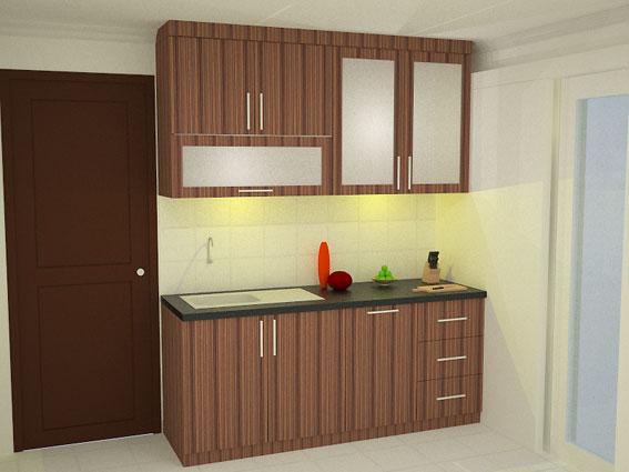 contoh desain dapur hemat ruang minimalis sederhana
