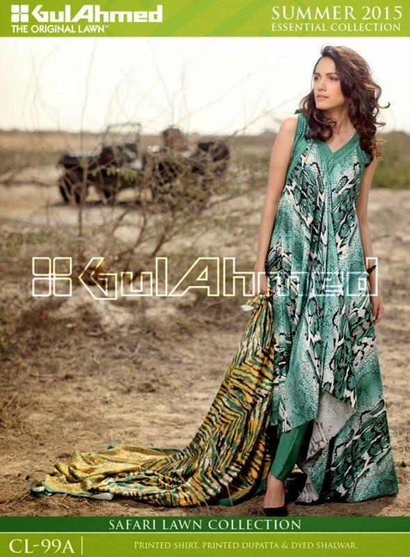 Safari Lawn Summer Collection by Gul Ahmed 2015 4