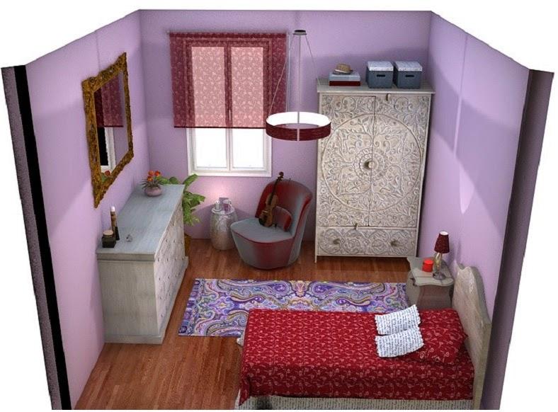 Arantxa amor decoraci n una habitaci n con aire bohemio - Muebles habitacion pequena ...
