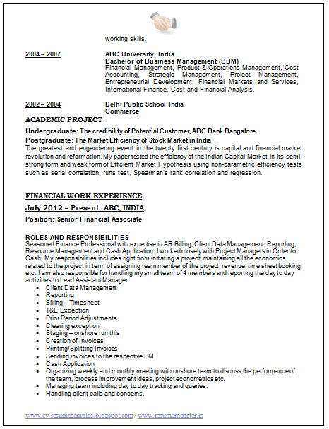 ... CV and Resume Samples with Free Download: Best Resume Format of 2015