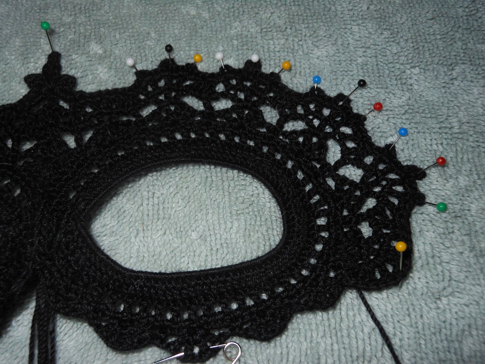Lace Mask Pattern Croc...