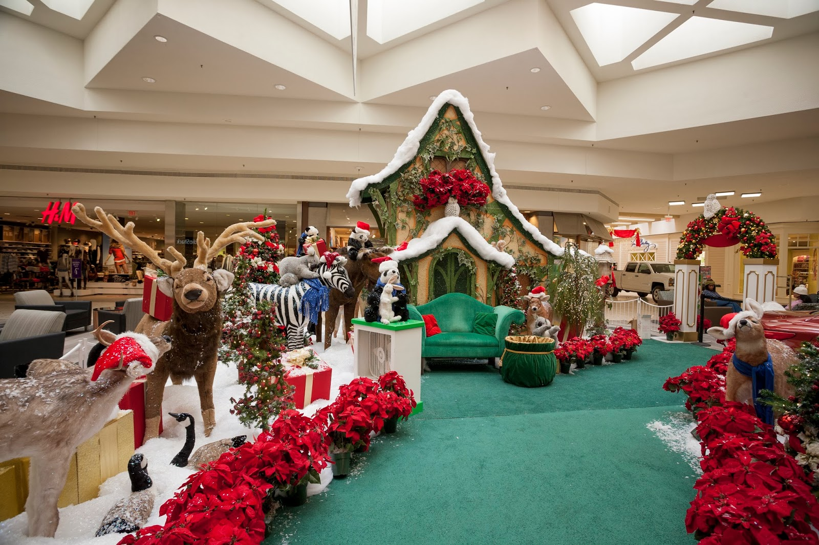 Saturday, Nov. New this year, Santa will take part in a special tree lighting ceremony at the park area outside of Briarwood Mall near the Sears entrance. Santa will be arriving in his convertible Lexus, as his live reindeer mingle and jingle with the crowds.