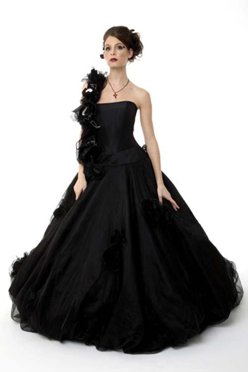 Very great ideas of black wedding dress gown evening for Black bridesmaids dresses wedding