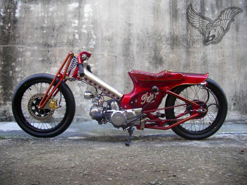sym90 scooter-chopper | afs custom, taiwan