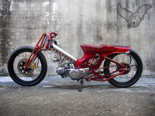 sym90 scooter-chopper | afs custom, taiwan