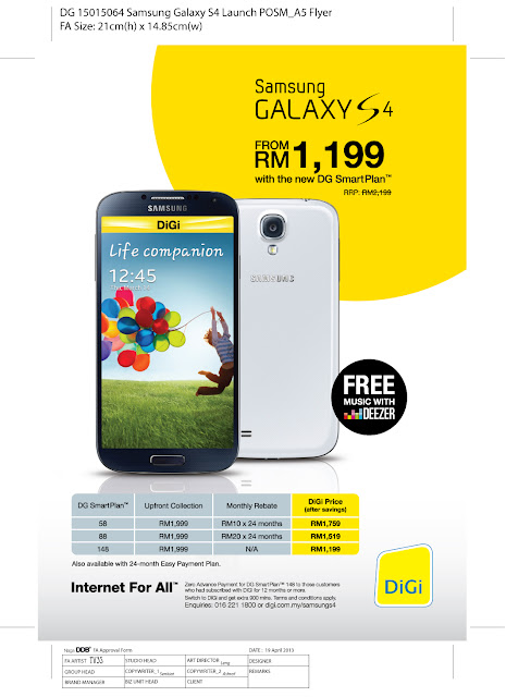 Samsung+S4 pack+promo Promosi SAMSUNG GALAXY S4 dan HTC ONE dengan DiGi SMART PLAN