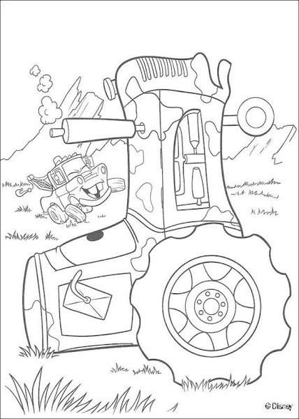 Disney Cars Mack Truck Coloring Page