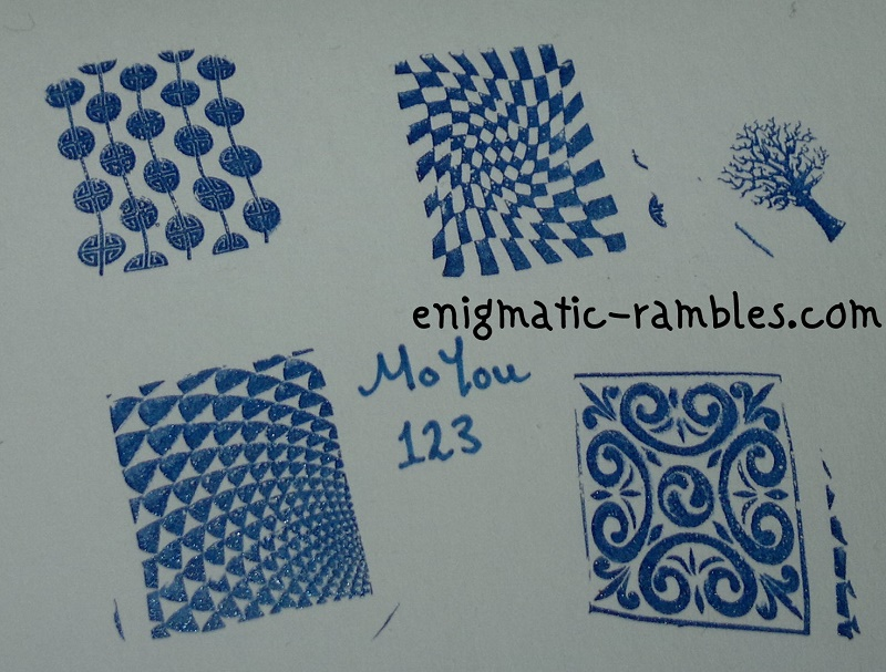 review-moyou-123-stamping-plate-chequers-filigree-tree-geometric