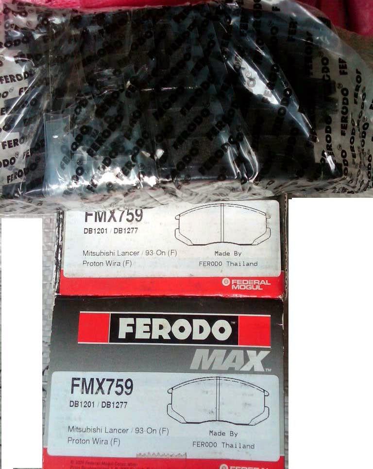 Kampas Rem Ferodo depan Mitsubishi Lancer 1.6 EVO 3,4,5