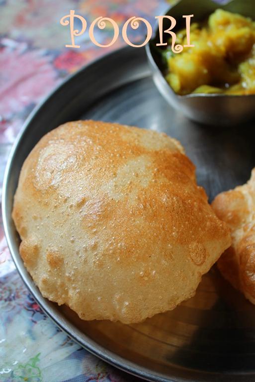 The Perfectly Puffed Poori - Puri Recipe - Deep Fried ...